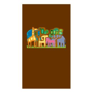 African art animals business card