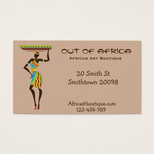African art boutique shop african fashion business card zazzle african art boutique shop african fashion business card reheart Images