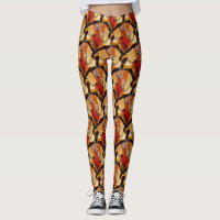 African Art earth tones neutral native dance Leggings