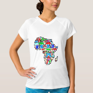 African Art Fitted Tank Top - Colorful