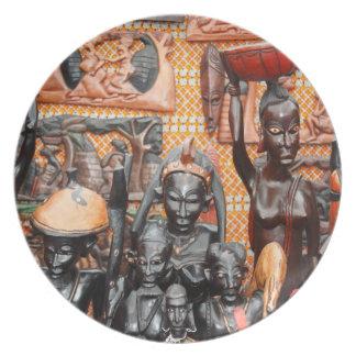 African art melamine plate