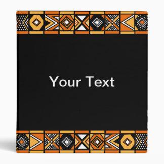 African art pattern binder
