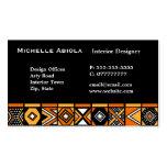African art pattern business card