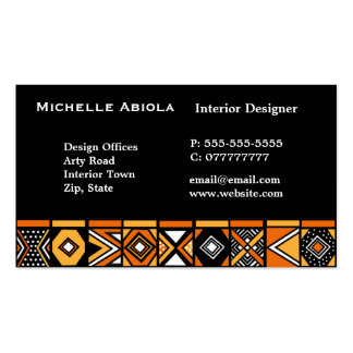 African art pattern Double-Sided standard business cards (Pack of 100)