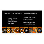 African art pattern business cards