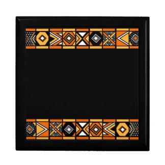 African art pattern keepsake boxes