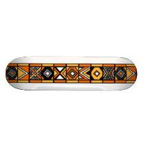 African art pattern skateboard deck