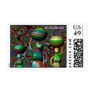 AFRICAN ART POSTAGE STAMP