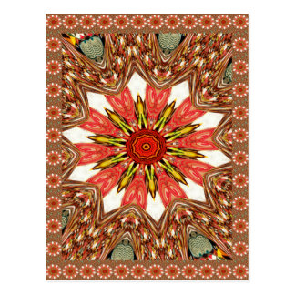 African Asian traditional edgy pattern Postcard