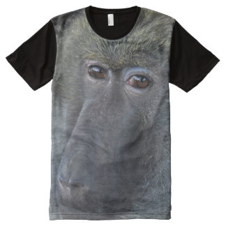African Baboon Primate Wildlife Photo All-Over-Print T-Shirt