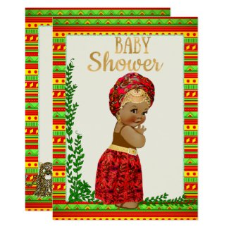 African Baby Shower Invitation with Little Princes