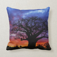 African baobab tree, Adansonia Throw Pillow