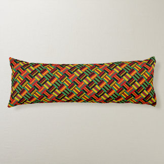 African Basket Weave Pride Red Yellow Green Black Body Pillow