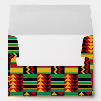 African Basket Weave Pride Red Yellow Green Black Envelope