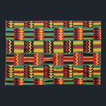"""African Basket Weave Pride Red Yellow Green Black Kitchen Towel<br><div class=""""desc"""">Enjoy this modern basketweave tribal pattern in African colors of red,  green,  yellow and black. Drawn from traditional kente cloth patterns,  this updated version adds style to your decor.</div>"""