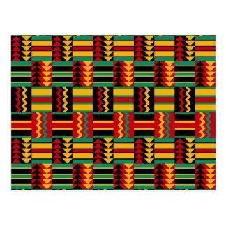 African Basket Weave Pride Red Yellow Green Black Postcard