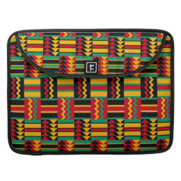 African Basket Weave Pride Red Yellow Green Black Sleeve For MacBook Pro