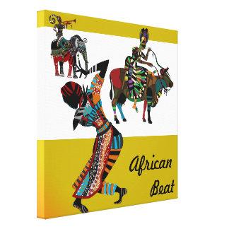 African beat african tribal art canvas canvas print
