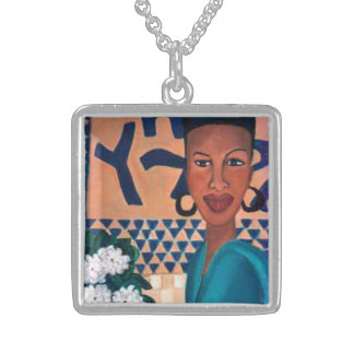 African Beauty 1 Sterling Silver Necklace