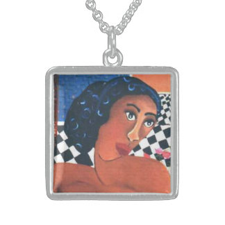 African Beauty 2 Sterling Silver Necklace