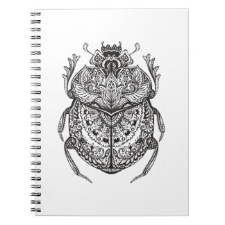 African Beetle Zendoodle Notebook