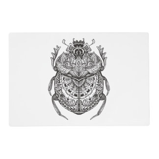 African Beetle Zendoodle Placemat
