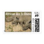 African Big Five: Rhino Stamp