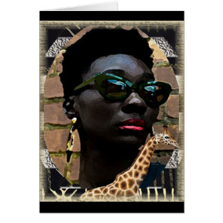 African Black Beauty Card