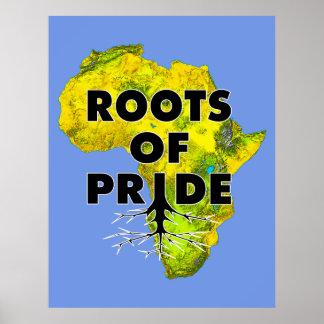 African Black Pride Roots Of Pride Proud Poster