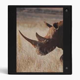 African black rhino with big horns vinyl binders