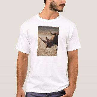 African black rhino with big horns T-Shirt