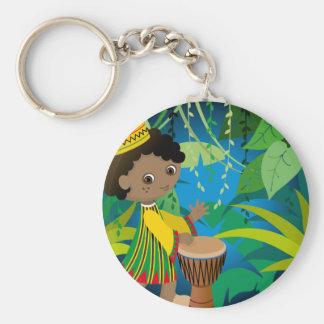 African boy keychain