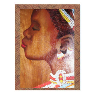 African Bride Post Card
