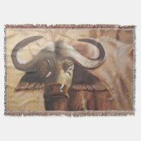 African Buffalo Throw Blanket