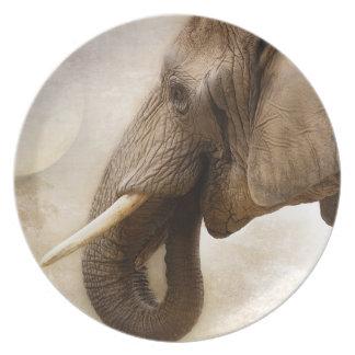 African Bush Elephant Dinner Plate