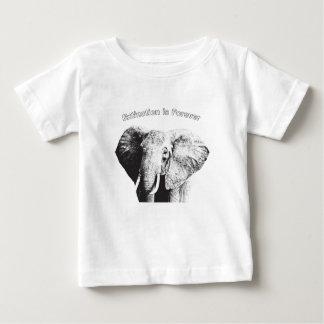 African Bush Elephant Drawing Baby T-Shirt