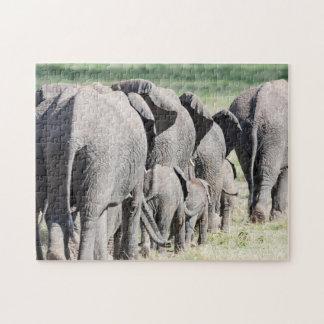 African Bush Elephant (Loxodonta Africana) 4 Jigsaw Puzzle