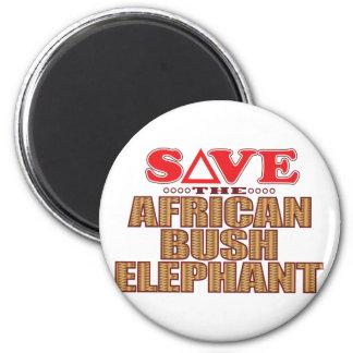 African Bush Elephant Save Magnet