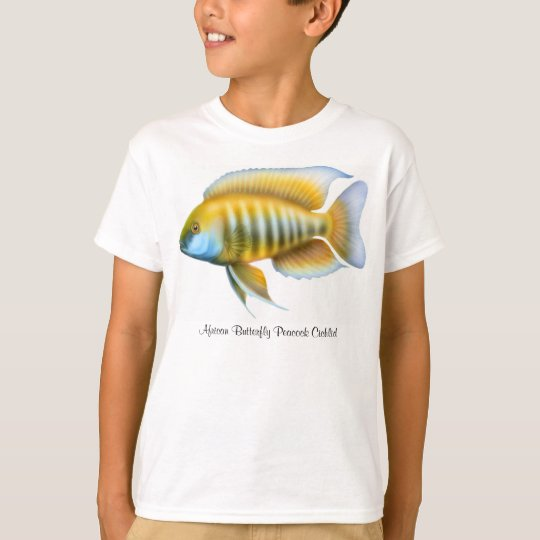 African Butterfly Peacock Cichlid Kids T-Shirt