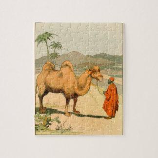 African Camel and Desert Traveler Jigsaw Puzzles