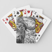 African Cape Buffalo Portrait Playing Cards