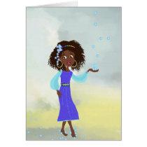 African cartoon girl Card