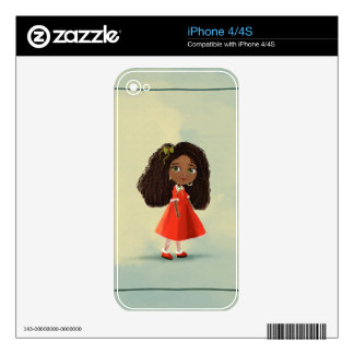 African cartoon girl iPhone 4/4S Skin iPhone 4 Decals