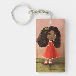 African cartoon girl Key Chain