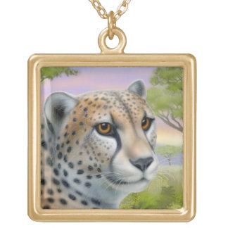 African Cheetah Big Cat Necklace