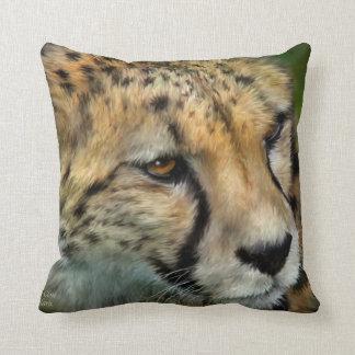 African Cheetah Portrait Art Designer Pillow
