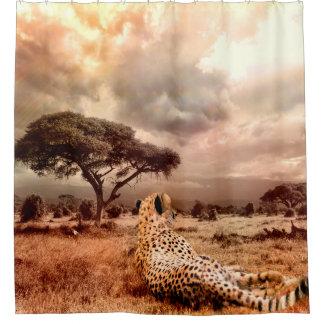 African Cheetah Shower Curtain