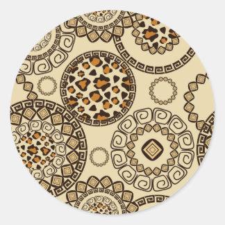 African cheetah skin pattern 3 stickers