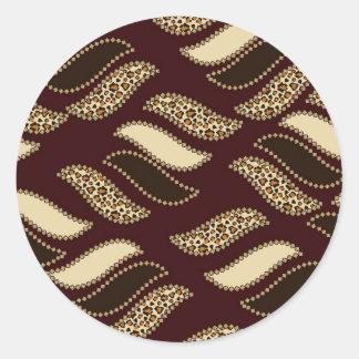 African cheetah skin pattern stickers