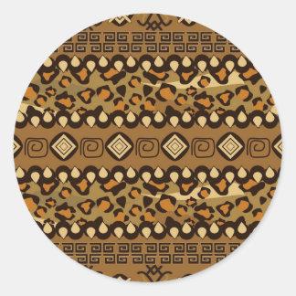African cheetah skin pattern sticker